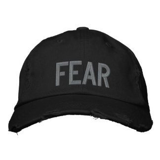 FEAR Embroided Hat Baseball Cap