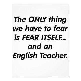 Fear English Teacher Custom Flyer