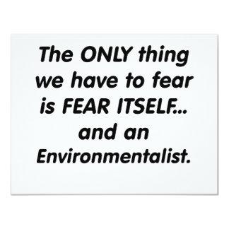 fear environmentalist 11 cm x 14 cm invitation card