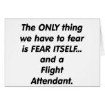 fear flight attendant greeting card