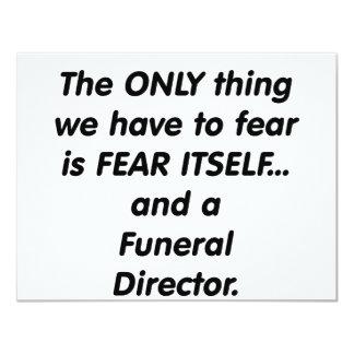 fear funeral director 11 cm x 14 cm invitation card