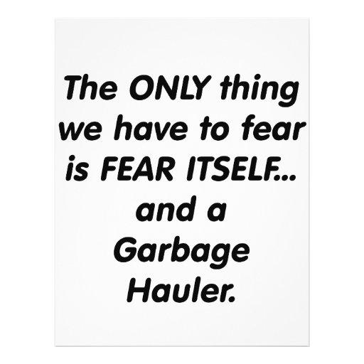 Fear Garbage Hauler Personalized Flyer
