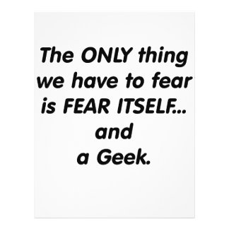 Fear Geek Custom Flyer