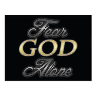 Fear God Alone Post Card