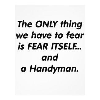 Fear handyman 21.5 cm x 28 cm flyer