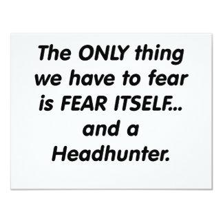 fear headhunter 11 cm x 14 cm invitation card