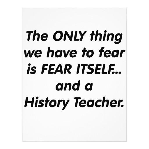 Fear History Teacher Flyer Design