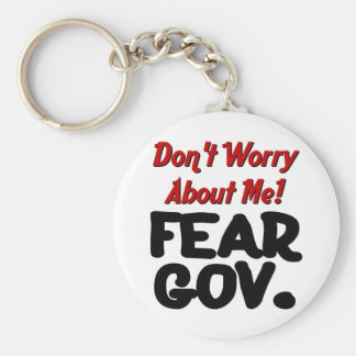 fear basic round button key ring