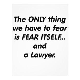Fear Lawyer Flyer Design