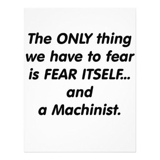 Fear machinist custom flyer