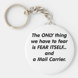 Fear Mail Carrier Basic Round Button Key Ring