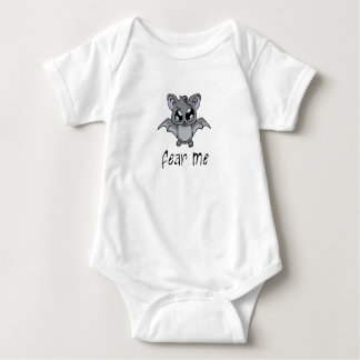 Fear Me! Bat (dark text) Baby Bodysuit