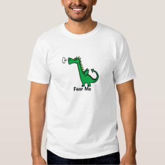 Fear Me Cartoon Dragon T-shirts