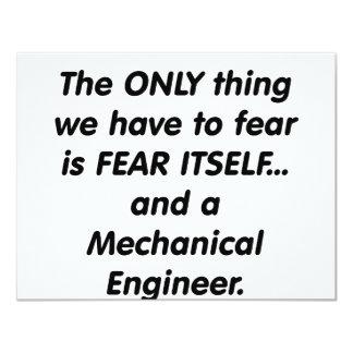 fear mechanical engineer 11 cm x 14 cm invitation card