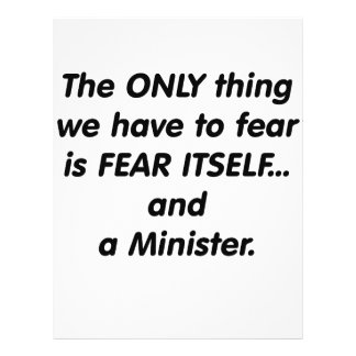 Fear minister personalized flyer