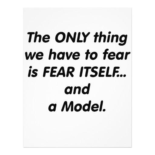 Fear model custom flyer