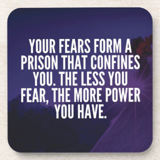 FEAR - Motivational Drink Coaster