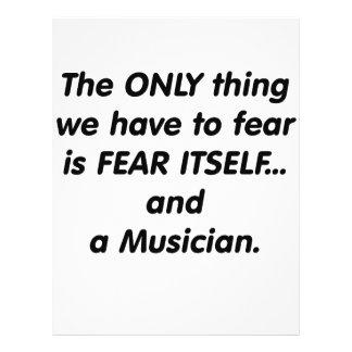 Fear Musician Custom Flyer