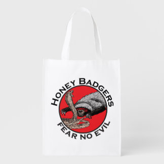 Fear No Evil Honey Badger Funny Animal Red Design