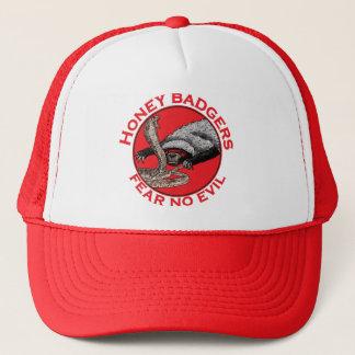 Fear No Evil Honey Badger Funny Animal Red Design Cap