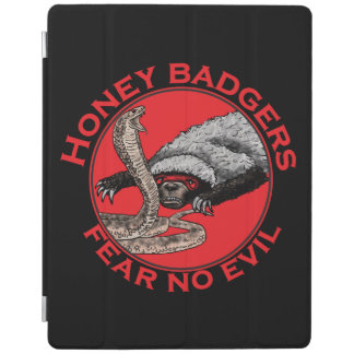 Fear No Evil Honey Badger Funny Animal Red Design iPad Cover