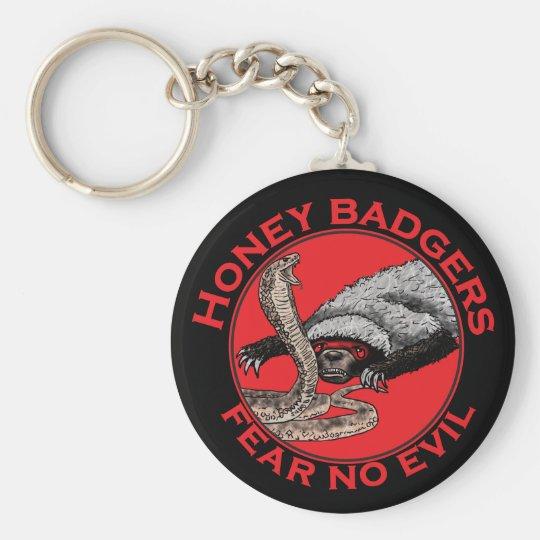 Fear No Evil Honey Badger Funny Animal Red