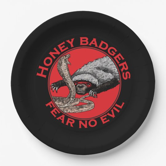 Fear No Evil Honey Badger Funny Animal Red