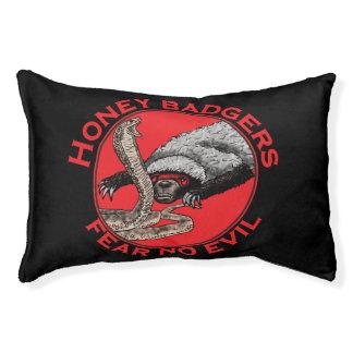 Fear No Evil Honey Badger Funny Animal Red Design Pet Bed
