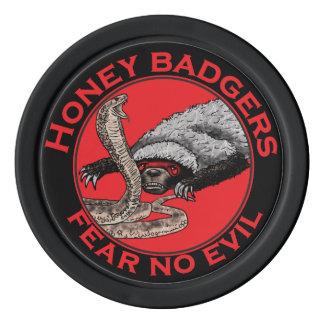 Fear No Evil Honey Badger Funny Animal Red Design Poker Chips