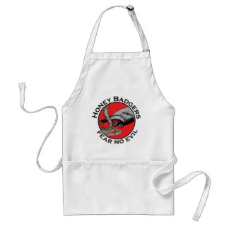 Fear No Evil Honey Badger Funny Animal Red Design Standard Apron