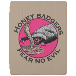 Fear No Evil Honey Badger Funny Pink Animal Design iPad Cover