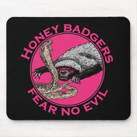 Fear No Evil Honey Badger Funny Pink Animal