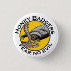 Fear No Evil Honey Badger Snake Animal Art Design 3 Cm Round Badge