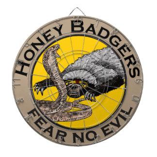 Fear No Evil Honey Badger Snake Animal Art Design Dartboard