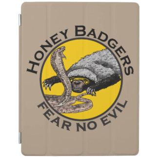 Fear No Evil Honey Badger Snake Animal Art Design iPad Cover