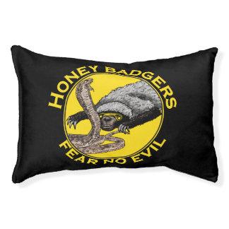 Fear No Evil Honey Badger Snake Animal Art Design Pet Bed