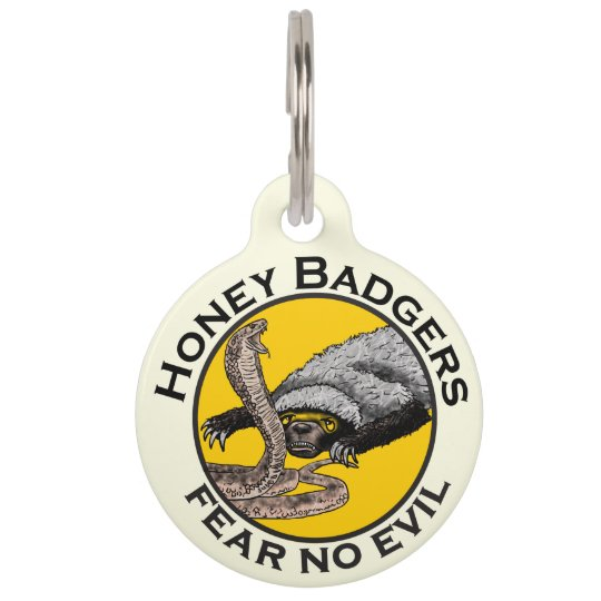 Fear No Evil Honey Badger Snake Animal Art