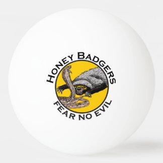 Fear No Evil Honey Badger Snake Animal Art Design Ping Pong Ball