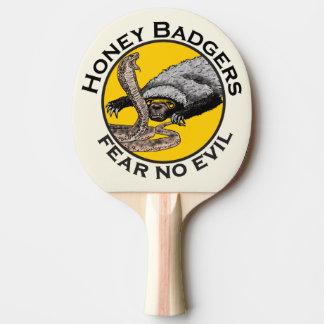 Fear No Evil Honey Badger Snake Animal Art Design Ping Pong Paddle