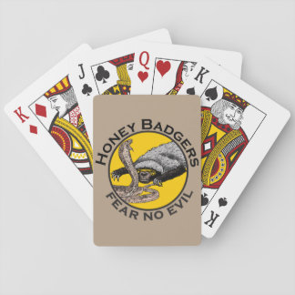 Fear No Evil Honey Badger Snake Animal Art Design Playing Cards