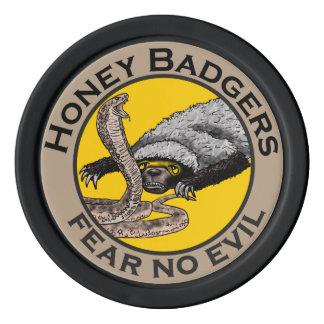 Fear No Evil Honey Badger Snake Animal Art Design Poker Chips