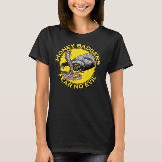 Fear No Evil Honey Badger Snake Animal Art Design T-Shirt