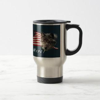 """""""Fear No More"""" Eagle, Wolf, Bear & US Flag Mug"""