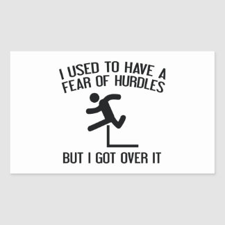 Fear Of Hurdles Rectangular Sticker