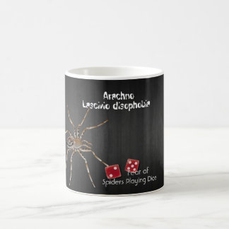 Fear of Spiders Playing Dice Coffee Mug