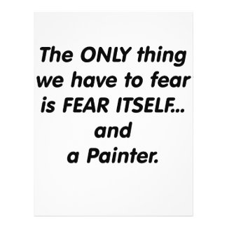 Fear Paintr Personalized Flyer