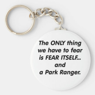 Fear Park Ranger Basic Round Button Key Ring