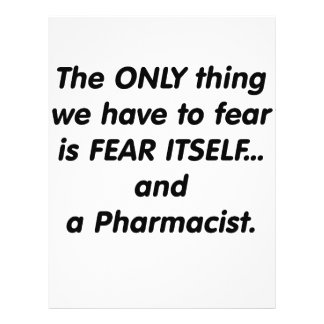 Fear Pharmacist Full Color Flyer