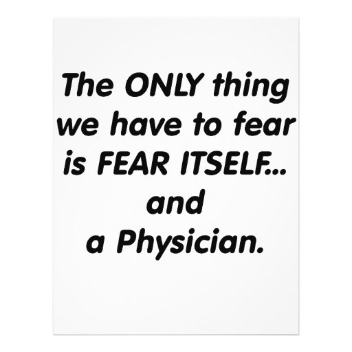 Fear Physician Personalized Flyer