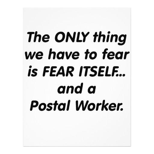 Fear postal worker custom flyer